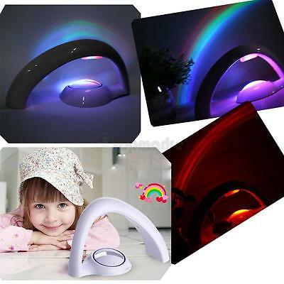 Romantic LED Rainbow Projector Colourful Night Light Lamp Best for Child Bedroom