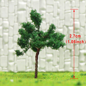 D3010 200pcs Model Train Layout Z Scale 1:220 Model Tower Trees Iron Wire 3cm