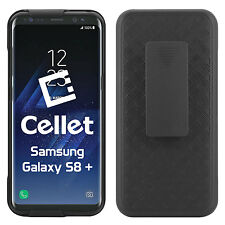 for Samsung Galaxy S8 Plus Holster Combo Case W/ Kickstand and Swivel Belt Clip