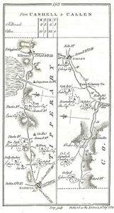 Antique-map-Roads-from-Cashell-to-Callen-Callen-to-Cashell-via-Fethard