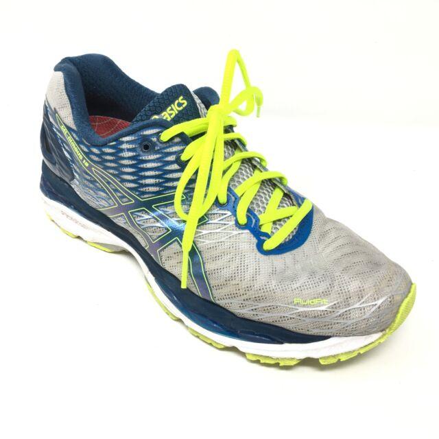 79dbbaa2 Men's Asics Gel-Nimbus 18 Running Shoes Sneakers Size 7.5M Gray Blue Green  Z9