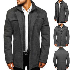 Details zu Mantel Übergangsjacke Sakko Coat Casual Winter Herren Mix BOLF 4D4 Classic WOW