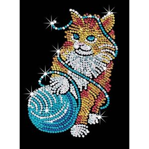 KSG-Sequin-Art-Original-Paillettenbild-Kaetzchen-430