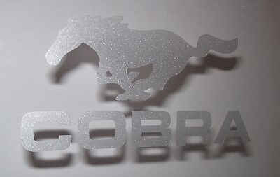 Ford Mustang pony COBRA Etched Glass Vinyl Decals Stickers Graphics set of 2