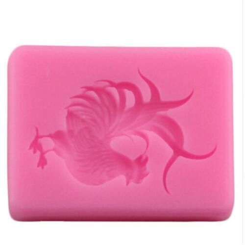 DIY Chicken Silicone Mould Mold Sugarcraft Jewellery Card Topper Food T