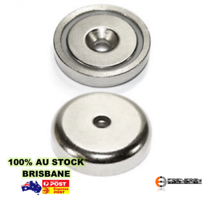 Image is loading 18X-Countersunk-Ring-Pot-20mm-6kg-Rare-Earth-  sc 1 st  eBay & 18X Countersunk Ring Pot 20mm 6kg | Rare Earth Magnet | Gate Door ...