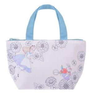031f0af218b6 Details about Disney Store Japan Lunch Bag Alice in Wonderland Tote Bag  White Rabbit Plants