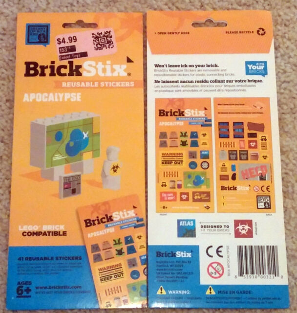 Stickers Compatable Reusable Apocalypse Lego Brickstix Brick For sCxQdrthB
