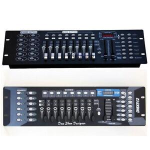 MIXER-CENTRALINA-LUCI-DMX-512-CONTROLLER-FARI-PAR-LED-TESTE-MOBILI-STROBO-192-CH