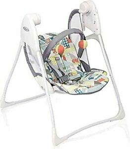 Graco Baby Delight Swing Portable Battery Powered Chair Compact Fold Patch fault