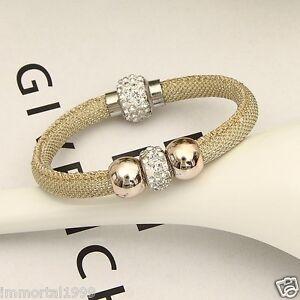 5ff4e636de86 Detalles de Bracelets Stardust cristal de zircon strass fermoir magnétique  Longueur:23cm