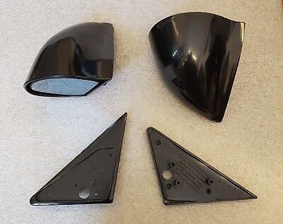 Noir Manuel dtm style Mirrors /& Base Plaques Fits BMW E36 4 portes Modèles