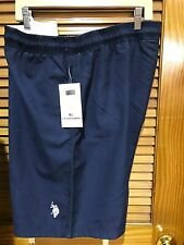 NWT U.S POLO Assn Swim Shorts Trunk elastic waist Drawstring 4XL Navy Blue