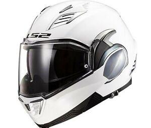LS2 Helmets Valiant II Police Valiant II Modular Helmet Gloss Black//Gloss White - X-Small