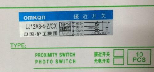 1 PC LJ12A3-4-Z//CX  Proximity Sensor Detection Switch NPN NC//NO DC 6-36V