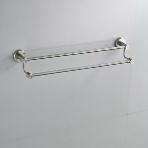 Details About Epak Brushed Nickel Bathroom Wall Mounted Stainless Steel Double Row Towel Racks