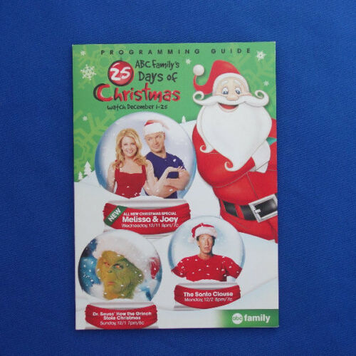2011 ABC Family 25 Days of Christmas programming guide & ornament air freshener