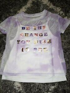 Girls-justice-mesh-layered-top-size-8-new-purple-tye-dye