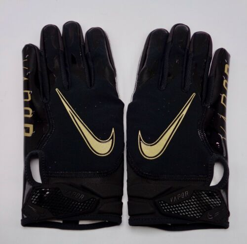 Nike Youth Vapor Jet 6.0 Football Gloves Youth Large Black//Metallic Gold