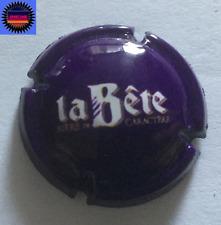 """Capsule de Bière LA BETE Fond Violet et blanc """"Bière de Caractère"""" !!!!!"""