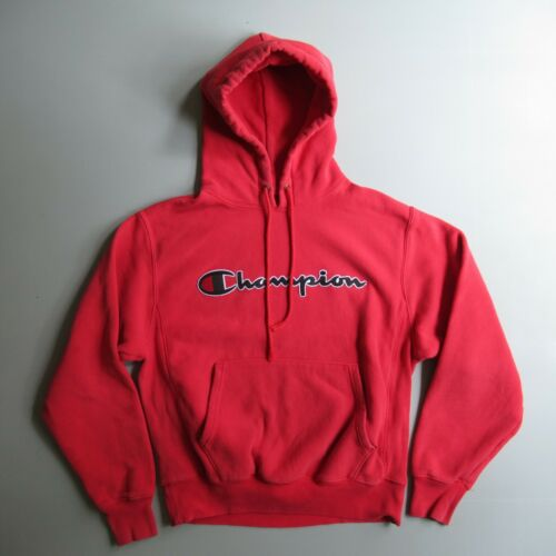 Champion Red Hoodie Pullover Shirt Sweatshirt