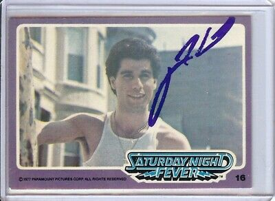 Cards & Papers Honest John Travolta Signed Autographed Trading Card Saturday Night Fever 16 Jsa U99013