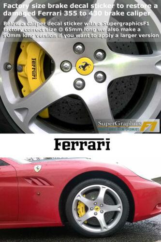Bremssattel Abziehbild Zum Anpassen Ferrari 355 460 Vorne /& Hinten Set Unit X6
