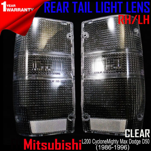 FOR M//S MIGHTY MAX 1987-96 DODGE D50 REAR TAIL LIGHT CLEAR ONLY LENSES 1 PAIR