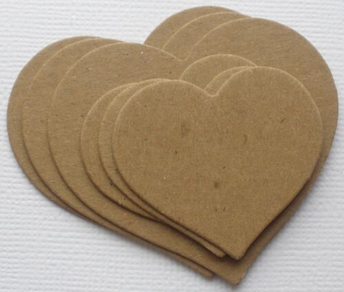 Raw Bare Unfinished Chipboard Die Cuts {10} LAYERED PRETTY HEARTS