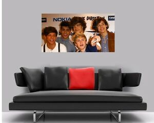 "ONE DIRECTION BORDERLESS MOSAIC TILE WALL POSTER 47/"" x 25/"""