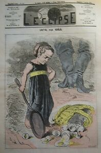 1872-New-on-Caricature-Gill-Journal-Satirical-L-039-Eclipse-No-No-167-of-1872
