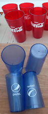 Restaurant Glass tumbler soda Pepsi Coca Cola 16 20 oz beverage cup blue red