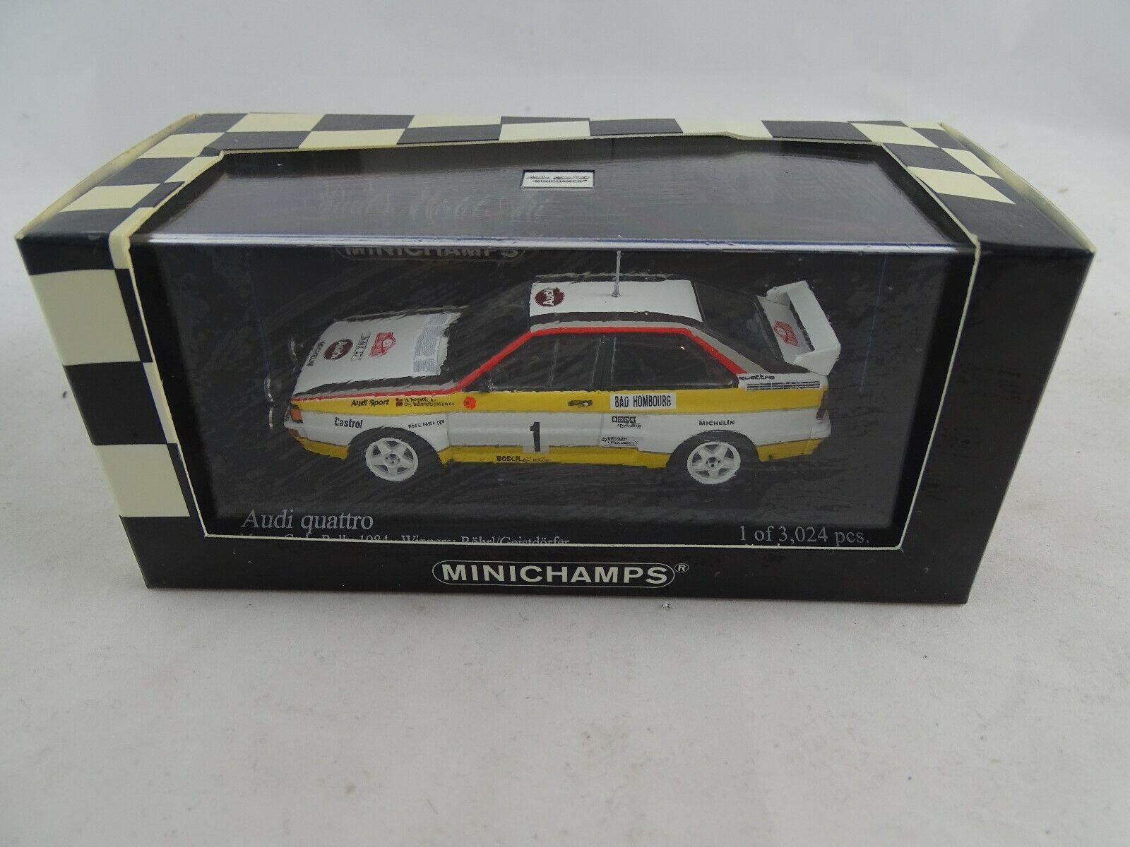 autorización 1 1 1 43 Minichamps  430841901 Audi Quattro Monte Cocheio Rally 1984 Ganadores  1  Tienda 2018