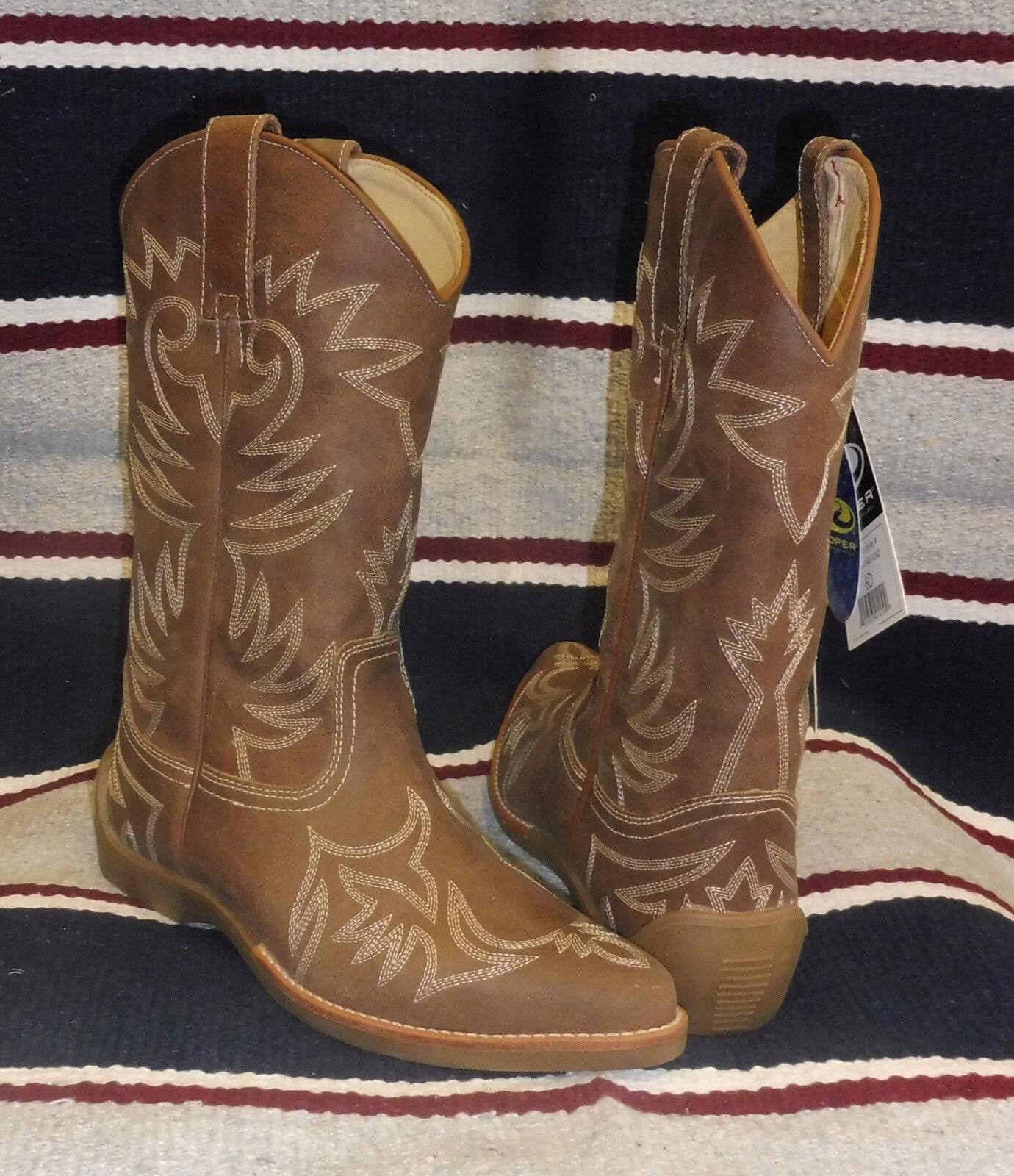 Stivali stivale texani country western cowboy donna lavoro Roper Marroneee punta
