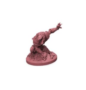 30 mm SCALE MINIATURES LD non peinte Lycanthrope Claw soulevé