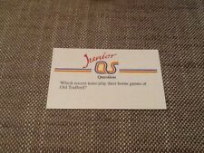 Manchester United / Junior A Question of Sport game card 1990 #119 football