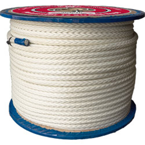 CWC 12-Strand Polyester Rope - 5 16  x 600 ft., White