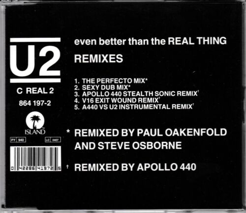 1 of 1 - U2 - Even Better Than The Real Thing **1992 5 Track CD Single**VGC
