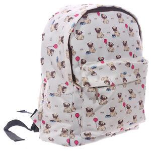 Image Is Loading Pug School Bag Backpack Kids Rucksack Childs Kid