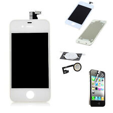 For iPhone4S LCD Touch Screen Digitizer Assembly White+back+button Generic New