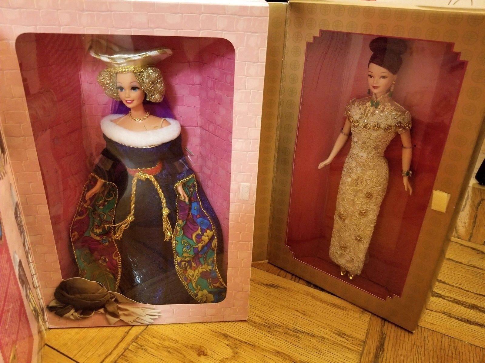 1994 große epochen barbie - sammlung mittelalterlicher lady & 1998 Goldene qi pao - barbie