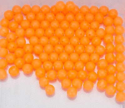100 Stück Leuchtende Rundform Perlen aus Kunststoff Leuchtperlen Angelköder SPT