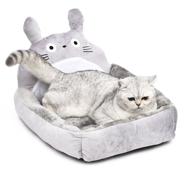 Pet Dog Cat Totoro Design Cushion Kennel Beds Berber Fleece Dog Cat Cushion Bed