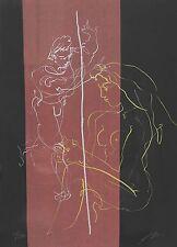 """ERNI HANS """"Freier und junges Mädchen"""" 1965 handsignierte Originallithografie!"""