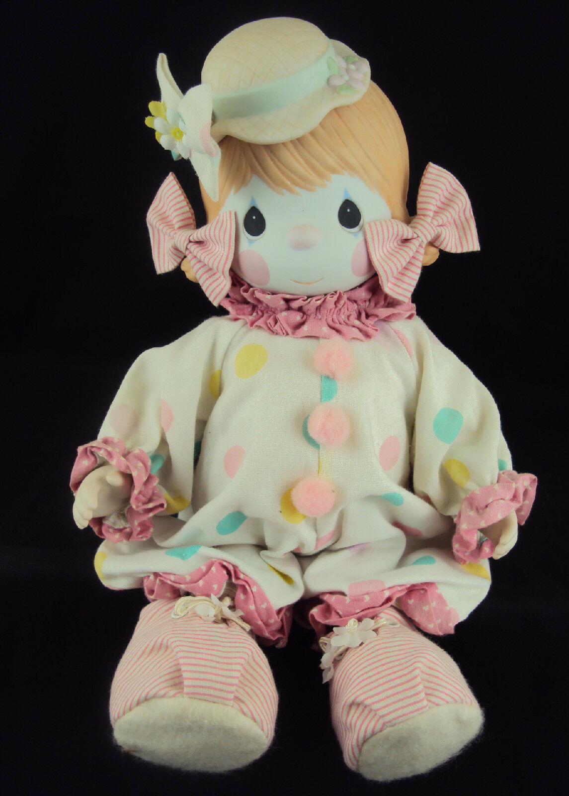 Precious Moments Muñeca 100463,  caramelo  El Payaso, incluye soporte de la muñeca, Certficate