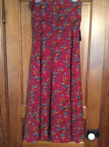 Slinky Maxi Nwt Materiale Addormentata M Roses Skirt Bella Lularoe Taglia 7wp4zqp
