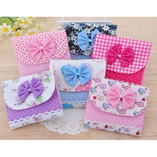 Women Girl Tie Sanitary Napkin Towel Pad Small Bag Purse Hold Organizer Best UK