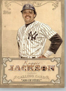 2013 Topps Calling Cards #CC-11 Reggie Jackson - New York Yankees