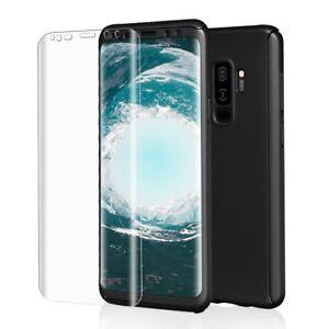 Fuer-Samsung-Galaxy-S9-Plus-Komplett-Schutz-Case-Schutzfolie-Full-Protection-Co