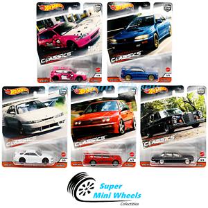 Hot-Wheels-Cultura-de-Coche-Premium-2020-S-Case-Modern-Classics-Conjunto-de-5-automoviles
